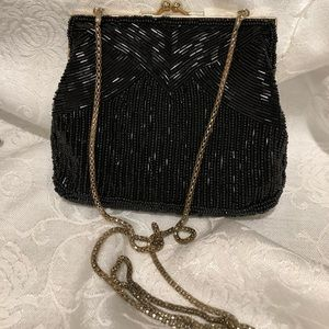 Vintage hand made beaded hand bag